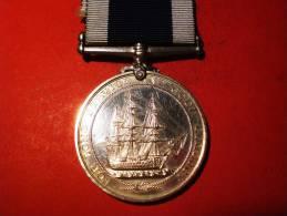 GROßBRITANNIEN Marine Ehrenzeichen Mit Band Edward VII 1901-1910 - Grossbritannien