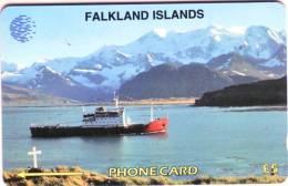 Télécarte  Holographique ïsles Falkland Valeur Faciale :£5 Utilisée  Qualité TB  ****LOT N°5CWFAD12446 - Falkland