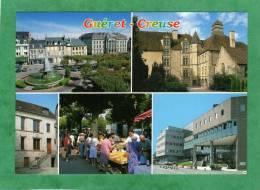 Guéret Place Bonnyaud Marché Et Sa Fontaine Et L'hôtel Des Moneyroux Musée Des Arts Et Traditions Centre Hospitalier - Guéret