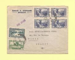 Liban - Destination Paris - 1946 - Voir Au Dos - Liban