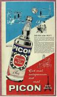 Reklame Werbeanzeige Von 1965 -  PICON Aperitif  -  Weiß Oder Rot  -  Erst Mal Entspannen - Alkohol