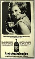 Reklame Werbeanzeige Von 1965 -  Sechsämtertropfen  -  Der Magenbitter, Der Nach Mehr Schmeckt - Alkohol