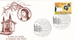 Vatican Special Cachet: 1981 S. Rita Da Cascia (A435) - Brieven En Documenten