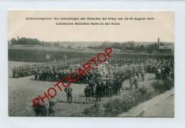 NIMY-Fete Allemande-souvenir Des Combats-1914-Monument-Animation-Soldats-CARTE Allemande-GUERRE 14-18-1WK-BELGIQUE-BELGI - Mons