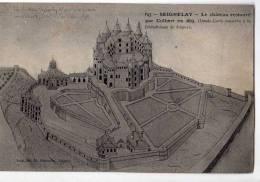 CPA    89       SEIGNELAY  1947     CHATEAU RESTAURE PAR COLBERT EN 1675     DESSIN CONSERVE BIBLIOTHEQUE JOIGNY - Seignelay