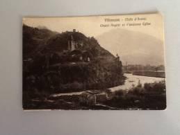 VILLENEUVE CHATEL ARGENT ET L'ancienne Eglise 1915 VIAGGIATA - Italien