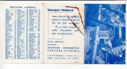 """1965 Calendrier De Poche """"G. Traullé Peinture,Décoration,Tentu Re,Vitrerie"""" à Caen / Commerces,métiers >> - Calendriers"""
