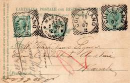 1907 CARTOLINA CON ANNULLO COLLESANO PALERMO - Marcofilía
