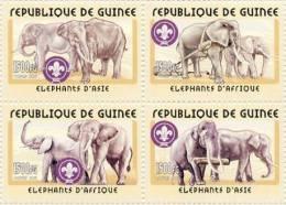GUINEA 2001 MNH** - Elephants - YT 2029-32; CV = 12 € - Elephants