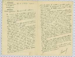 Journal LE SOLEIL Rue Rossini à Paris, RENAULD Directeur, Dpt 75 - Imprimerie & Papeterie