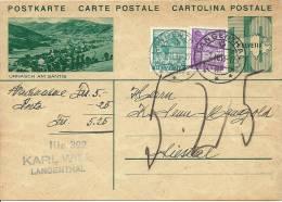 1936 Nachnahme Mit Urnäsch Am Säntis - Enteros Postales