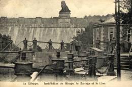 BELGIQUE - LIEGE - LIMBOURG - BETHANE - Gileppe - Installation De Filtrage, Le Barrage Et Le Lion. - Gileppe (Barrage)