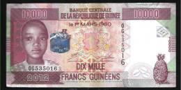 GUINEA (République De Guinée )  : 10000 Francs -  2012 - XF - Guinea