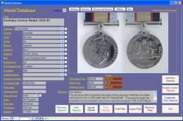 Medal Collection Image Database Software CDROM For Windows - Militari