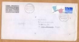 Enveloppe Europa Parlamentet  Parlement Européen S-Gravenhage To Antwerpen Belgïe - Period 1949-1980 (Juliana)