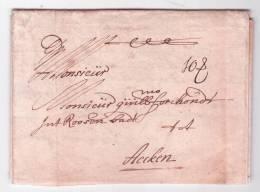 """L. Datée D'ANVERS 1694 + Port """"10 S"""" (10 Schilling) -> Aachen. (traité Entre A De Tassis Et La Ville Impériale Aachen)RR - 1621-1713 (Pays-Bas Espagnols)"""