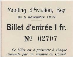 Meeting D'aviation De Bex - 1919 - Aviation - Aviateur - Non Classés
