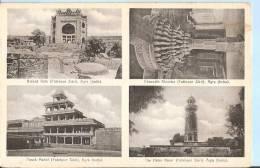 India Postcard - Views Of Agra - Buland Gate, Chausath Khumba, Panch Mahai, The Hiran Minar    PM1765 - India