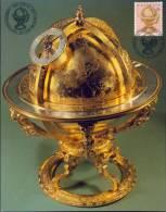 SWITZERLAND MAXIMUMCARD 1983 MI 1249 GLOBE OF HEAVEN, HIMMELSGLOBUS, JUSTUS BYRGI, ASTRONOMIE. - Astronomy