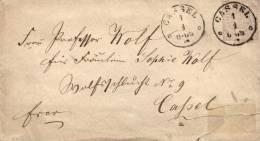 AD, NDP,  Briefumschlag Mit Nr. 13, EF, 1/4 Groschen, Ortsbrief Cassel - Deutschland