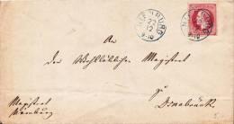 AD, Hannover, Briefumschlag Mit  Nr. 14, 1 Groschen EF, Nienburg-Osnabrück, Echt Gelaufen - Hannover