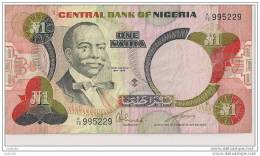 1 NAIRA - N° K/78  995229 - Nigeria - - Nigeria
