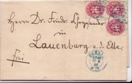AD, Preussen, Briefumschlag Mit  Nr. 16, 1 Silbergr.,Dreierstück, Mit Inhalt, Berlin-Lauenburg, V. 11.6.66 Echt Gelaufen - Preussen