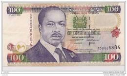 100 SHILINGI 1996 - N° AD 8038884 - Kenya - (Superbe, Non Circulé) - - Kenya