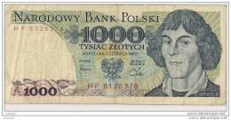 1000 Zlotych 1982 -  N° HP 8128378 - Pologne - - Pologne