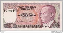 100 Lirasi 1970 - N° E80 884775 - Turquie - (Superbe, Non Circulé) - Turquie
