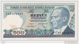 500 Lirasi 1970 - N° E33 971827 - Turquie - (Superbe, Non Circulé) - Turquie