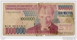 1000000 Lirasi 1970 - N° R49 487619 - Turquie - - Turquie