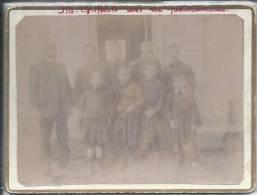 ENFANTS Et Leur Professeur - PHOTO Sur Support Rigide 12 X 9 Cm - 14 Octobre 1911 - Photos
