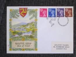 ISLE OF MAN  DEFINITIVE ISSUES 1971 FDC - Isle Of Man