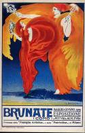 """REPLICA Di Cartolina Pubblicitaria """"BRUNATE, Como, Esposizione 1909 - OTTIMA F18 - Advertising"""