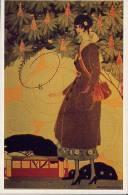 """REPLICA Di Cartolina Pubblicitaria """"LA TRAMVIERA"""" Di Umberto Brunelleschi 1918 - OTTIMA F18 - Advertising"""