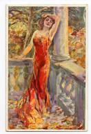 1914  Artist Signed Postcard  Woman  By Usabol - Usabal