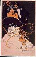 """REPLICA Di Cartolina Pubblicitaria """"RICORDO DELLA FESTA DEL VENTAGLIO"""" Di Marcello Dudovich 1901 - OTTIMA F18 - Advertising"""
