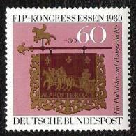 RFA - 1980 - YT N°911 - Fédération Internationale De Philatélie - Unused Stamps