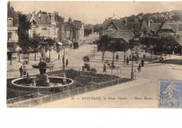 14----DEAUVILLE----la Plage Fleurie---place Morny--voir 2 Scans - Deauville