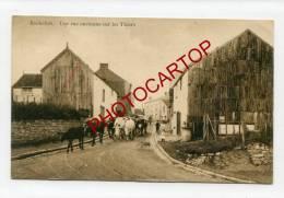 Rue ancienne sur les THIERS-Vaches-Enfants-ROCHEFORT-Periode GUERRE 14-18-1WK-BELGIQUE-BELGIEN-Feldpost-