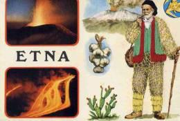 CPM ITALIE COSTUMI DELLA SICILIA. VOLVAN ETNA. BRODEE - Unclassified