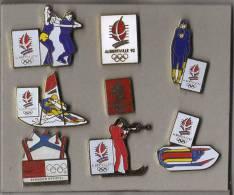 LOT DE  8 PIN´S  Alberville 92, Sport  Et Logo. - Jeux Olympiques
