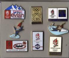 LOT DE  8 PIN´S  Alberville 92, Publicités Et Mascottes. - Jeux Olympiques