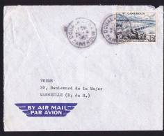 1957 Lettre Avion  Pour La France  FIDES Pont Sur La Wouri 15 Fr Yv 301 - Cameroun (1915-1959)