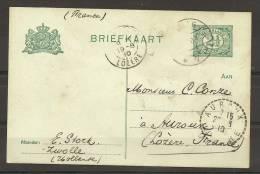 Pays-Bas : Entier 2 1/2 C. Pour La France - 1910 - (t1018) - Postal Stationery