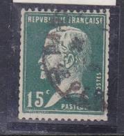 FRANCE N° 171 15C VERT TYPE PASTEUR DE ROULETTE OBL - Errors & Oddities