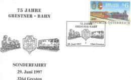 Rep. Osterreich - 75 Jahre Grestner   Bahn - Sonderfahrt  Gresten 29/6/1997  (RM0893) - Trains