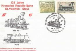 Rep. Osterreich - 125 Jahre Kronprinz Rudolfs-Bahn  St. Valentin-Steyr -  Steyr 14/8/1993 (RM0972) - Trains