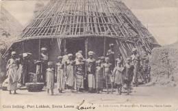 Sierra Leone - Girls Selling, Port Lokkoh (rare,animation, Seins Nus) - Sierra Leone